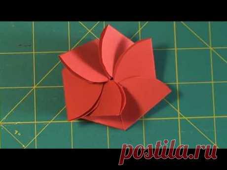 Конверт в виде цветка Flower envelope card