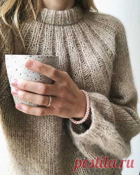 Вязание свитера спицами с описанием