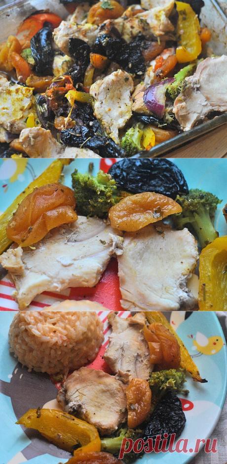 Ароматная курица, запеченная с овощами и сухофруктами. | Домик на берегу поля | Яндекс Дзен