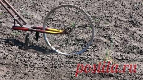 Как на базе старого велосипеда сделать культиватор для прополки Для ухода за посадками картофеля, томатов, лука и прочих овощей можно сделать ручной культиватор. Он рыхлит и пропалывает междурядья от сорняков в разы быстрее, чем это можно сделать тяпкой. Пожертвовав для его изготовления старым велосипедом, собрать ручной культиватор можно буквально за пару
