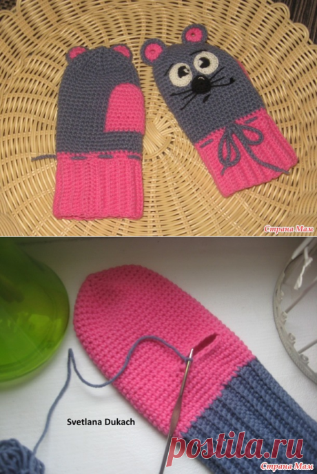 РУКАВИЧКИ крючком МК для НАЧИНАЮЩИХ - Вязание для детей - Страна Мам