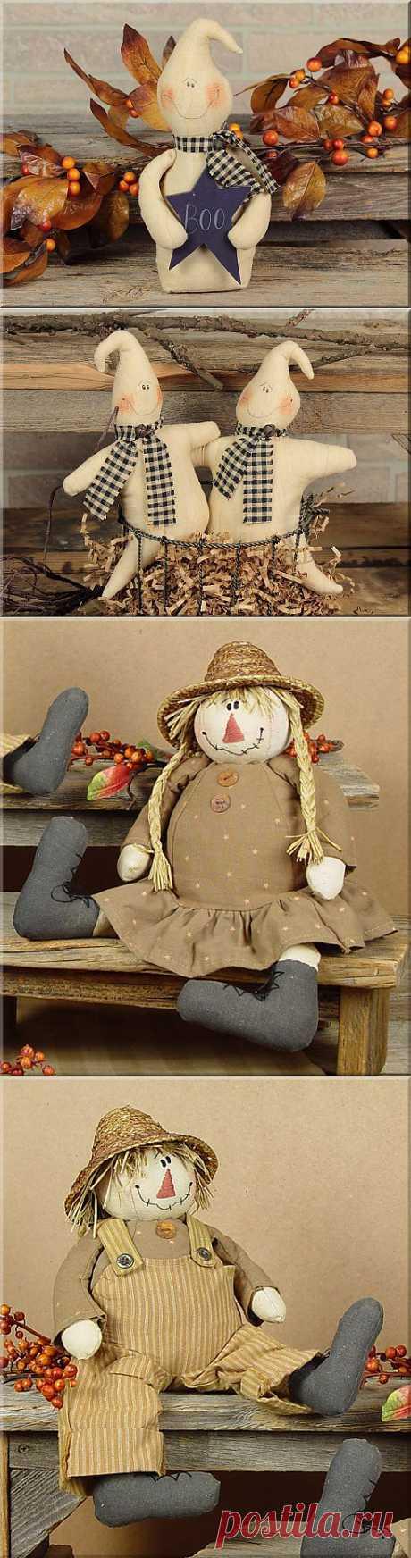 Примитивный домашний декор и подарки (куклы). Дизайнер Lisa Liffick.