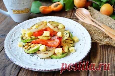 Салат из кабачков и сладкого перца - пошаговый рецепт с фото на Повар.ру