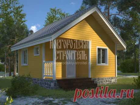 Проект одноэтажного дома из бруса 6х6 с санузлом - планировки и цены под ключ