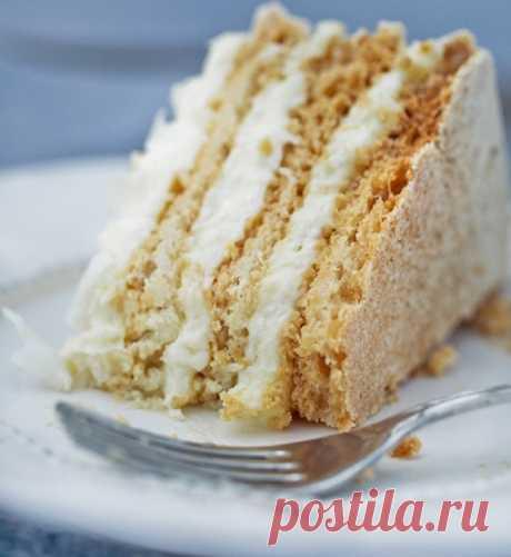 Торт Рафаэлло кокосовый торт из безе со сливочным кремом