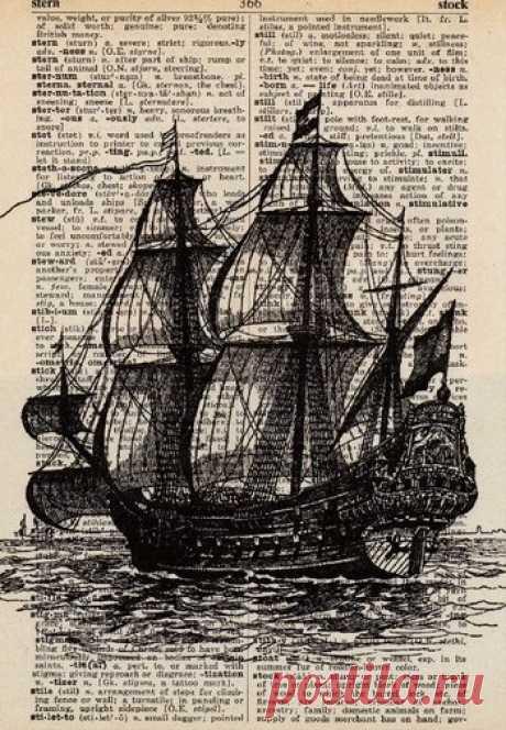 Картинки кораблей для декупажа