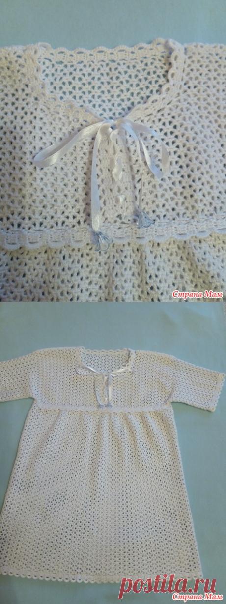 Крестильная рубашка для мальчика - Вязание - Страна Мам