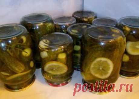 Огурчики маринованные с лимонными дольками Автор рецепта Ольга Белова - Cookpad