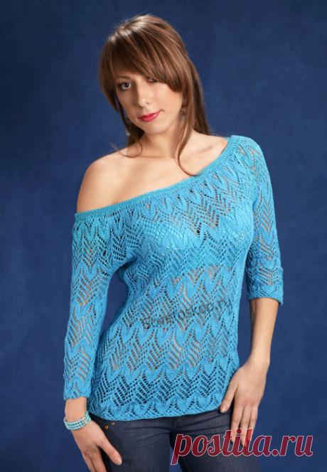Пуловеры с узорами ёлочка ( три модели вязаные спицами)