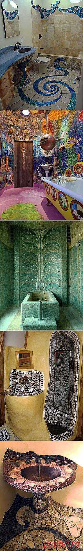 La baldosa insólita para de baño: el mosáico en el interior - Aprendemos a Hacer Todo