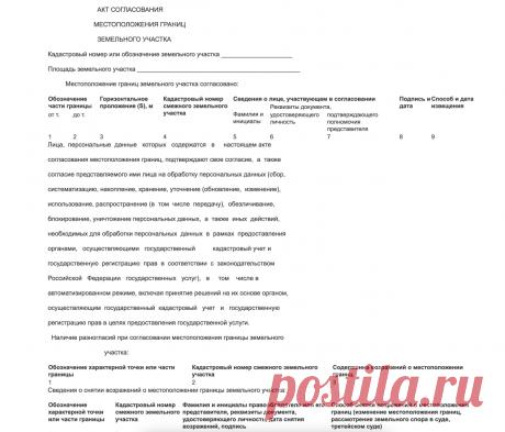 Требования к акту согласования границ земельного участка - Фоменко Дмитрий Иванович, 13 апреля 2021