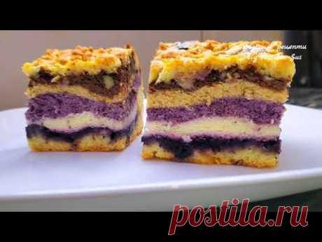 Кольоровий Сирник з Варенням Красива і проста випічка Творожный пирог рецепт