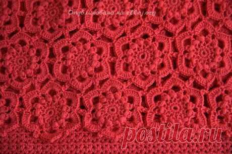 """[La labor de punto] la labor de punto Combinada de los motivos hexagonales para el vestido """"Вдохновение"""". La Clase maestra"""