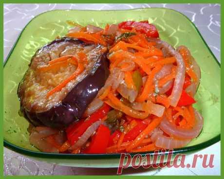 """Вкусная овощная закуска-салат """"Баклажан + Кабачок"""". Кулинар.ру – более 100 000 рецептов с фотографиями. Форум."""