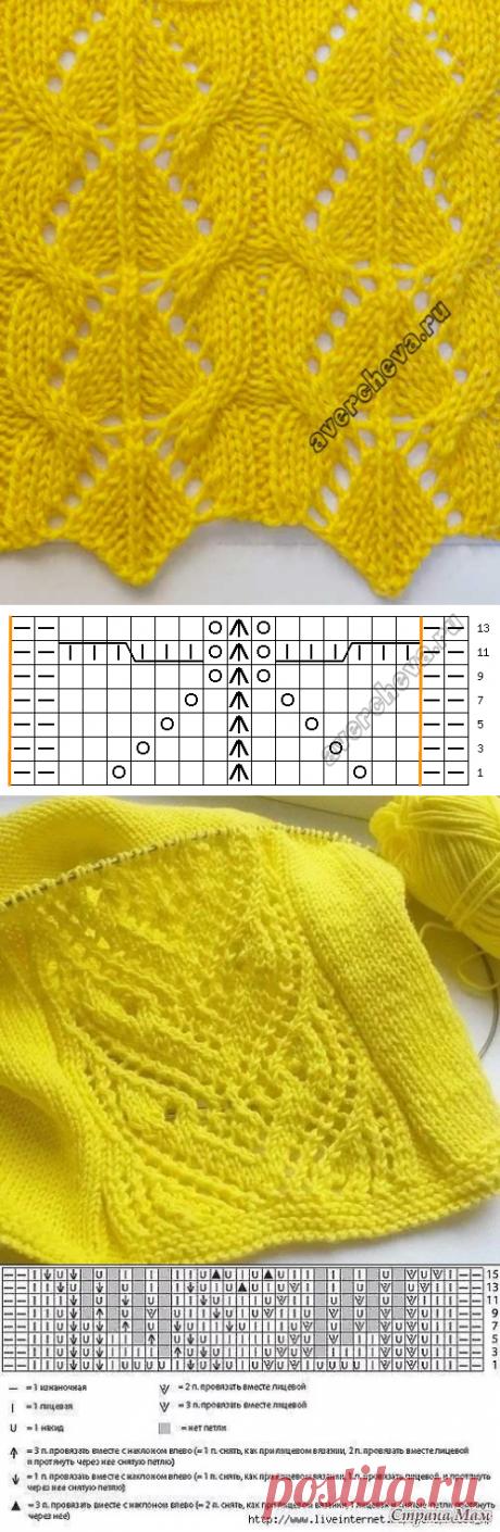 Вяжем спицами - 25 узоров в солнечном цвете | Вязание, рукоделие, хобби | Яндекс Дзен
