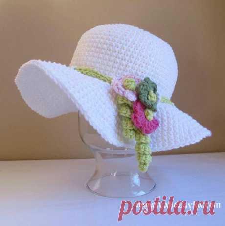 Шляпа с полями вязаная крючком. Схемы вязания летних шляпок крючком Шляпа с полями вязаная крючком. Схемы вязания летних шляпок крючком