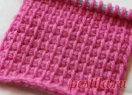 Tunisian knitting by a hook