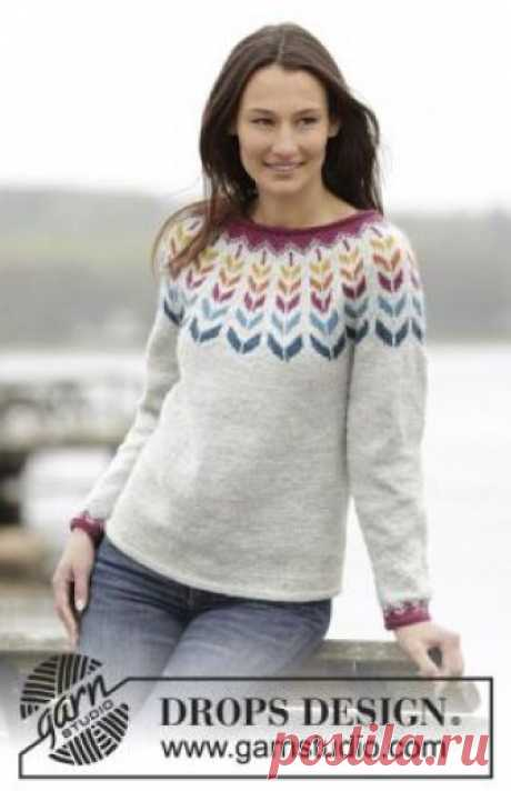 Jumper adventure the Nice warm jumper spokes for women executed from a wool yarn of average thickness. Knitting of model is carried out by a raglan from below around...