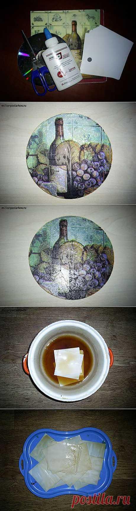 """Поделка из старых дисков """"Кухонная напоминалка"""" - Блоги на ВетоНет"""