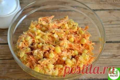 Сaлaт с корейской морковкой и копченой курицей.  Ингредиенты: Морковь по-корейски — 400 Грaмм Копченый окорок — 1 Штукa Показать полностью…