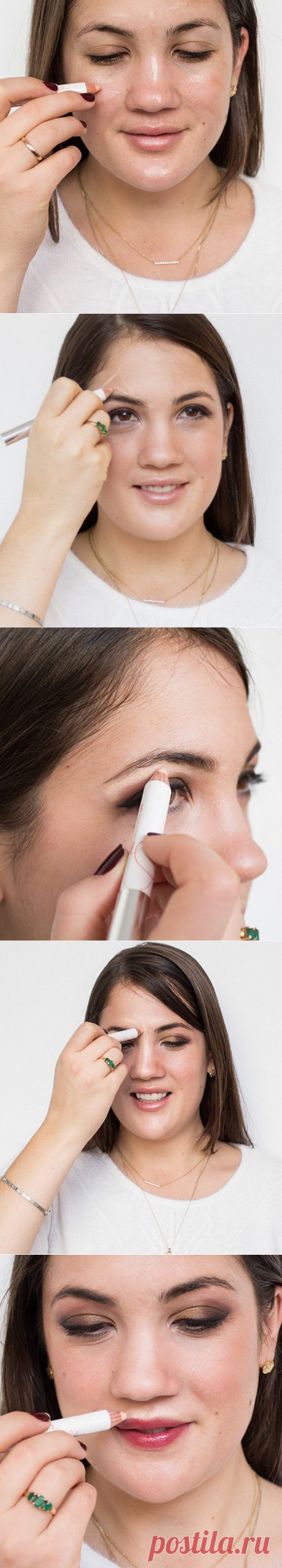 How to use a highlighter to replace with it all your cosmetics bag \/ All for the woman