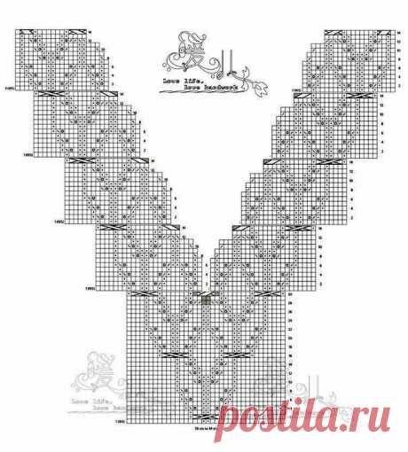 """«Ура!!! нашла описание на русском языке к азиатской модели. Пуловер""""Глициния"""". Спицы. - Salvabrani» — карточка пользователя Ирина Я. в Яндекс.Избранном"""