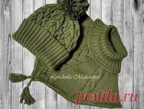 Комплект Шапка и Манишка (С описанием и схемами) | Вязание | Москва | Вязание на заказ - Custom knitting