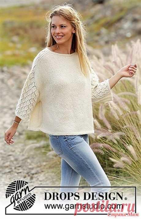 Пуловер Vanilla Kiss. Спицы. Размеры: S - M - L - XL - XXL - XXXL