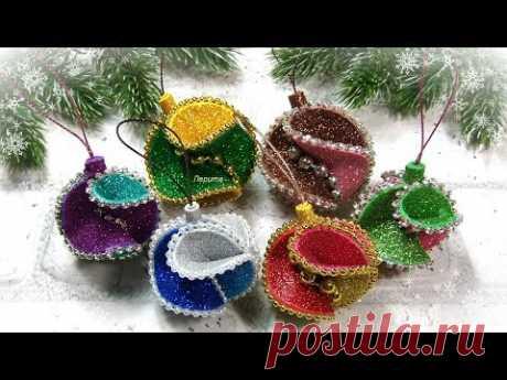 2 Идеи НОВОГОДНИХ ИГРУШЕК из фоамирана 🎄 diy christmas ornaments EVA foam