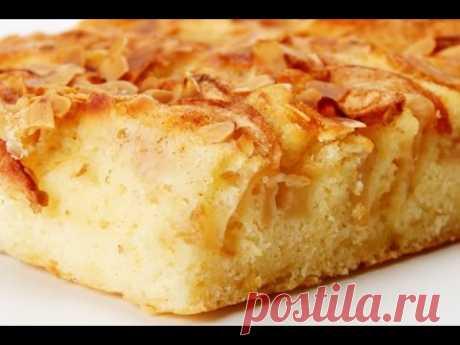 Яблочный пирог. Простой рецепт на кефире! - YouTube