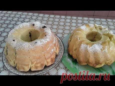 Дрожжевые кексы с яблоками и маком