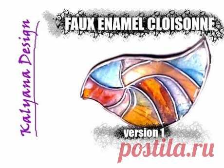 Faux enamel cloisonne version1 - polymer clay tutorial 014