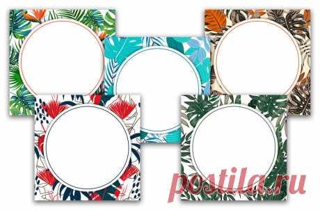 Тропики: красивый фон для надписи в инстаграм, скачать на instapik