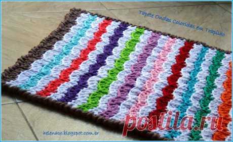 Вяжем коврики из шнуров