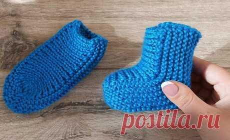 Детские носочки на двух спицах для начинающих: схема, описание, фото, видео мк. 8 вариантов.