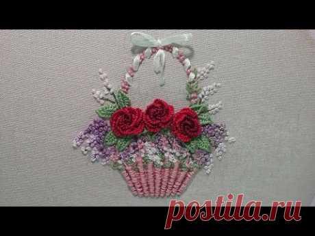3Д Вышивка | Красивый букет цветов | легкие стежки