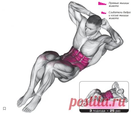 8 мощных упражнений для прокачки прсса