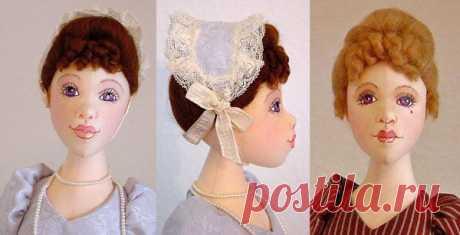 МК: вариант кроя рельефной головы для куклы   all Dolls
