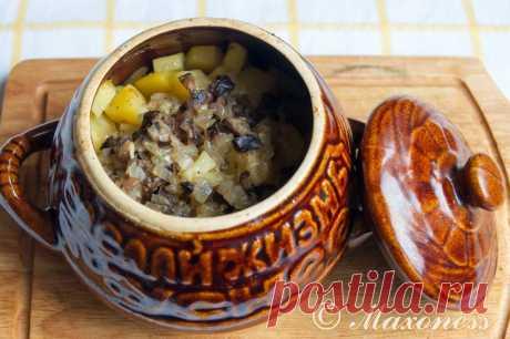 Проверенные рецепты: Говядина с картофелем в грибном соусе.