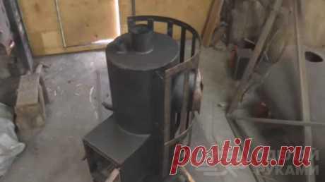 Печь-каменка для бани из металлической трубы В отличие от кирпичных печей, печь-каменка для бани, изготовленная из металла, имеет более компактные размеры.Это очень важно, учитывая небольшую площадь