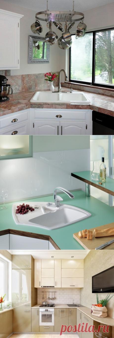 Угловая мойка для кухни: оптимальный вариант для малогабаритного помещения подробно, с фото