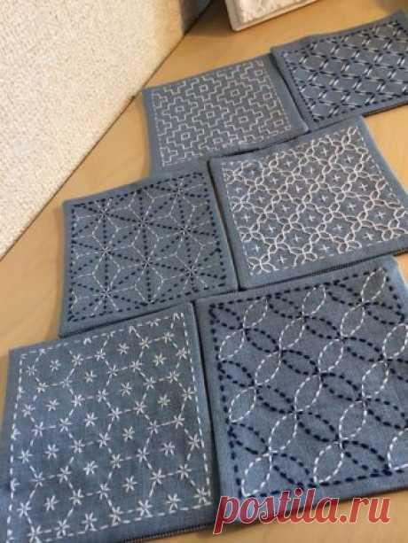 Вышивка сашико — Сделай сам, идеи для творчества - DIY Ideas