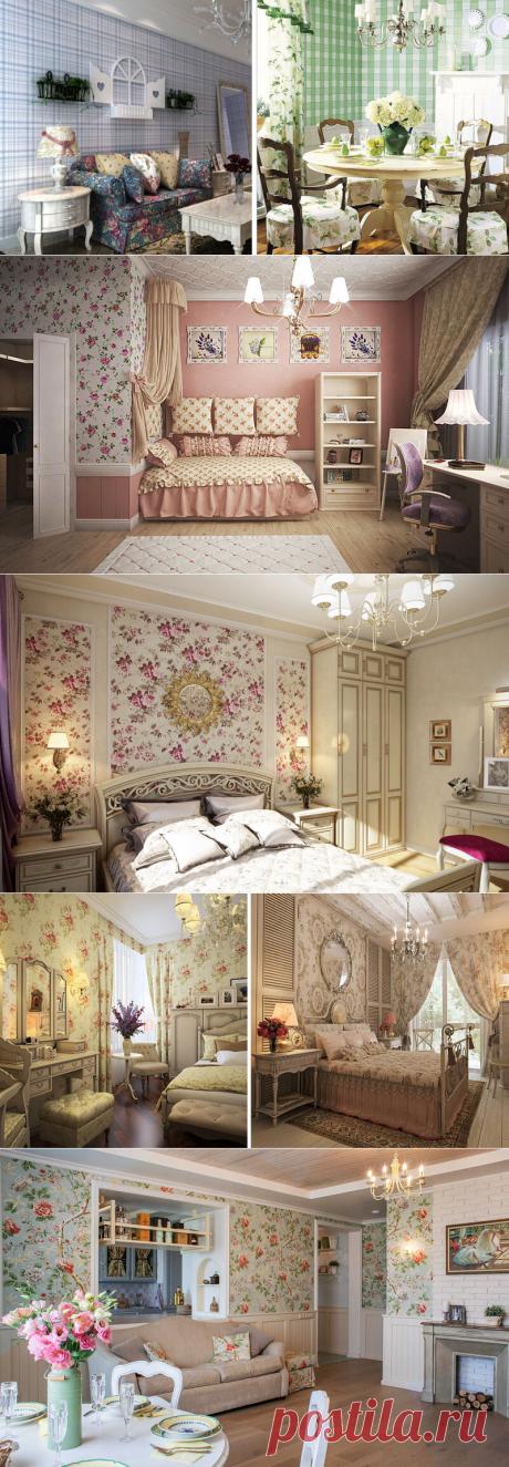 Какие обои подходят для интерьеров в стиле прованс: рисунки, цветовая гамма, варианты использования | Dream house | Яндекс Дзен