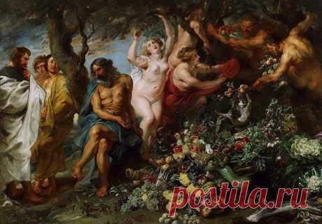 Пифагор, проповедующий вегетарианство. Питер Пауль Рубенс. Описание картины, скачать репродукцию.