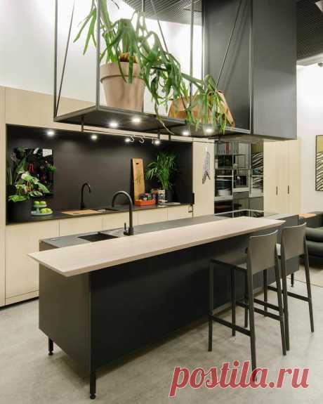 Черная кухня: фото интерьеров кухни в черном цвете, сочетания с другими цветами