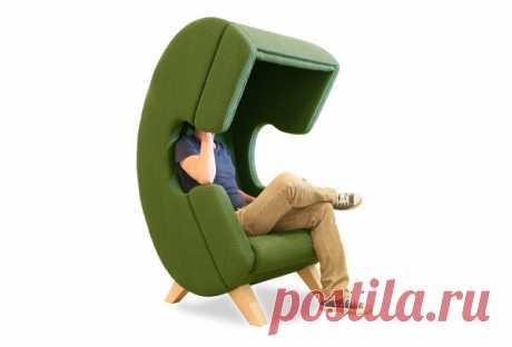 Кресло в виде телефонной трубки | flqu.ru - квартирный вопрос. Блог о дизайне, ремонте