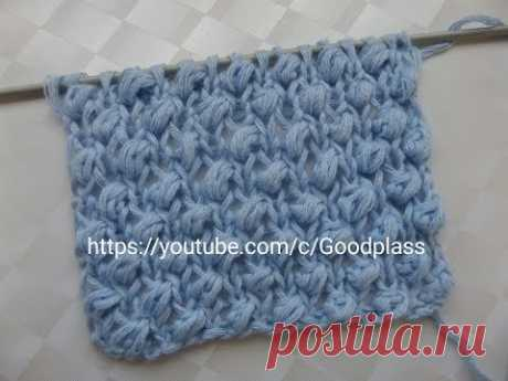 Pattern of the Boucle or Shishechki. Knitting by spokes.