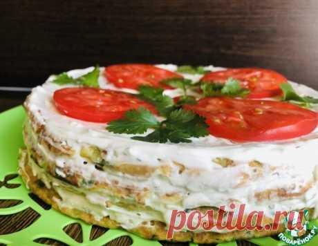 Кабачковый торт с творожной начинкой | ПОВАРЁНОК.РУ | Яндекс Дзен