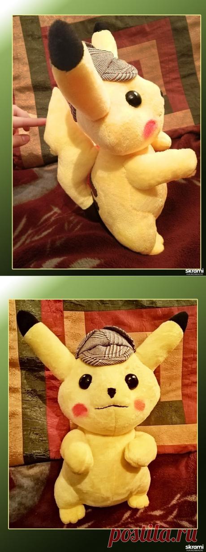 Купить Мягкая игрушка покемон Детектив - Пикачу — SKRAMI.RU. Невозможно было пройти мимо этого лапочки - милейшего покемончика Пикачу. Очень захотелось сшить, и вот теперь он меня радует и ищет новых друзей!