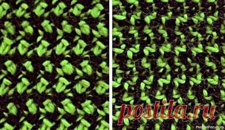 Узор ''Рута.'' Видео МК   Вязание спицами для начинающих Мозаичный, плотный, мелкораппортовый.Выглядит как стиль шанель. Может быть использован на любую сторону.